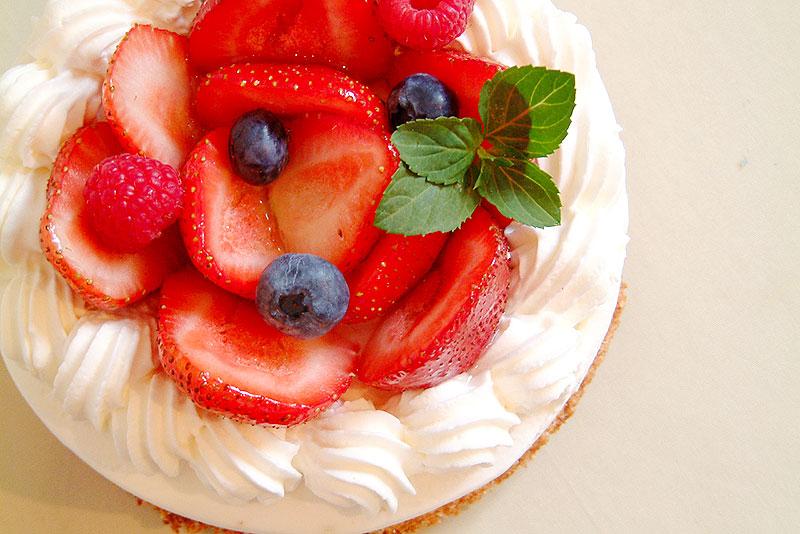 苺のバースデーケーキ